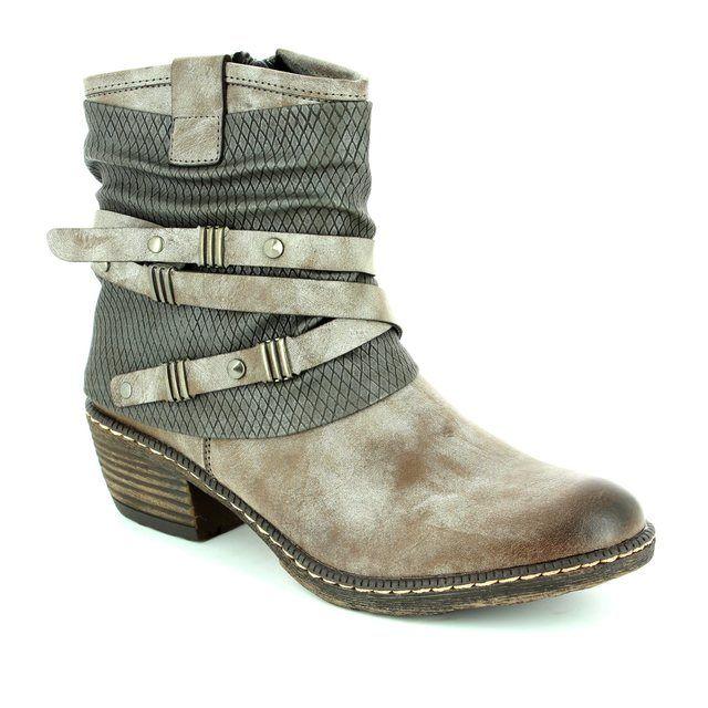 Rieker Boots - Taupe multi - K1483-25 BERNASTRA