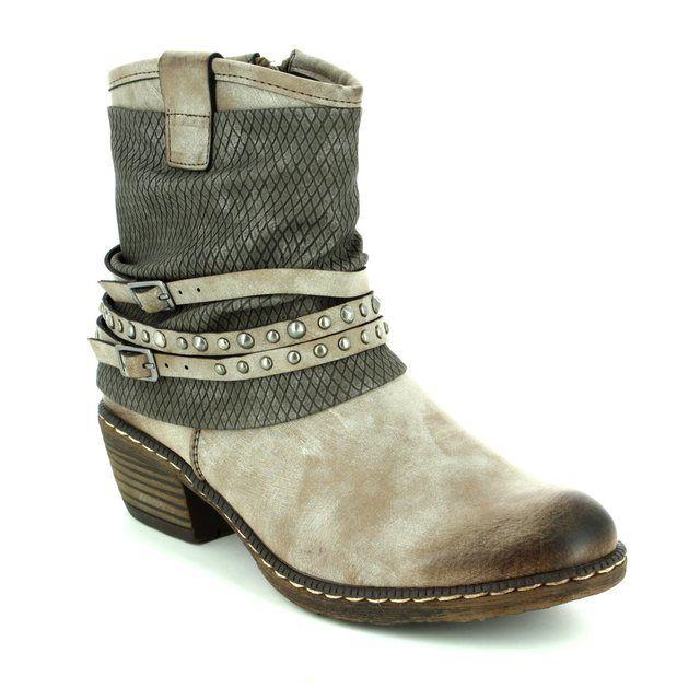 Rieker Ankle Boots - Taupe multi - K1493-25 BERNASTUD