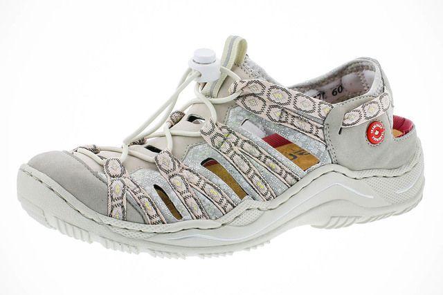Rieker Closed Toe Sandals - Beige multi - L0577-60 JEERSY