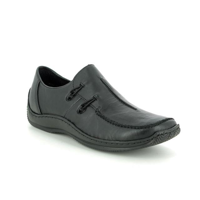 Rieker Comfort Slip On Shoes - Black leather - L1751-00 CELIA 72