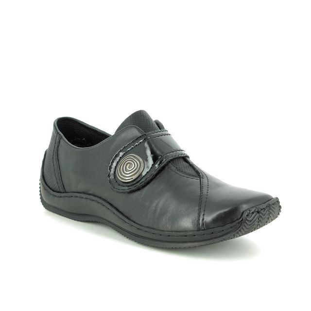Rieker Comfort Slip On Shoes - Black leather - L1760-00 CELIAVEL