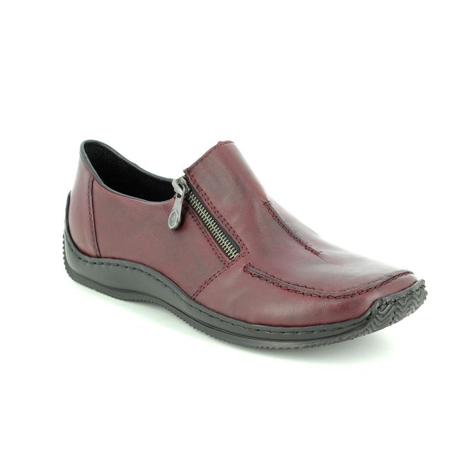 Rieker Comfort Shoes - Wine - L1780-35 CELIAZIP