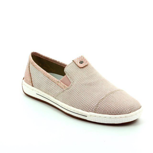 Rieker Trainers - Pink - L3051-31 SPACECAP