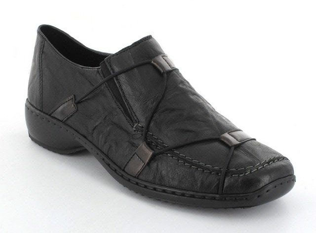 Rieker L3853-00 Black comfort shoes