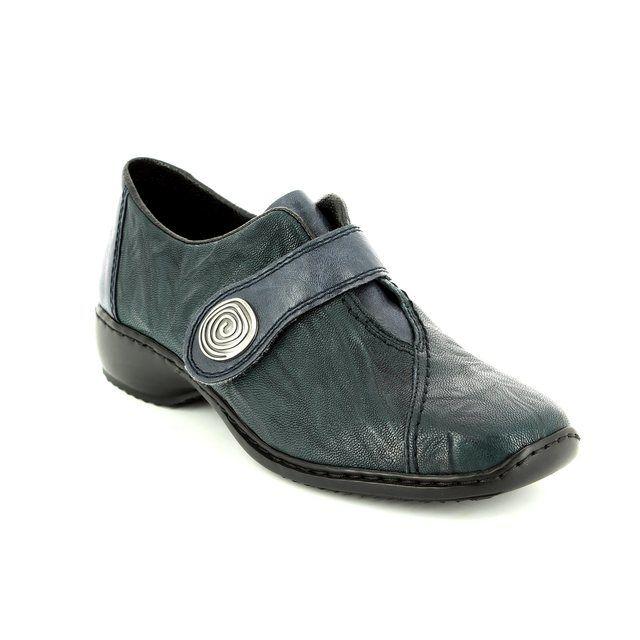 Rieker Lacing Shoes - Navy - L3870-14 DORVEL