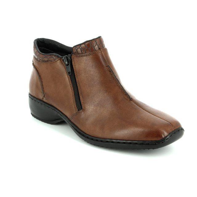 Rieker L3882-24 Tan ankle boots