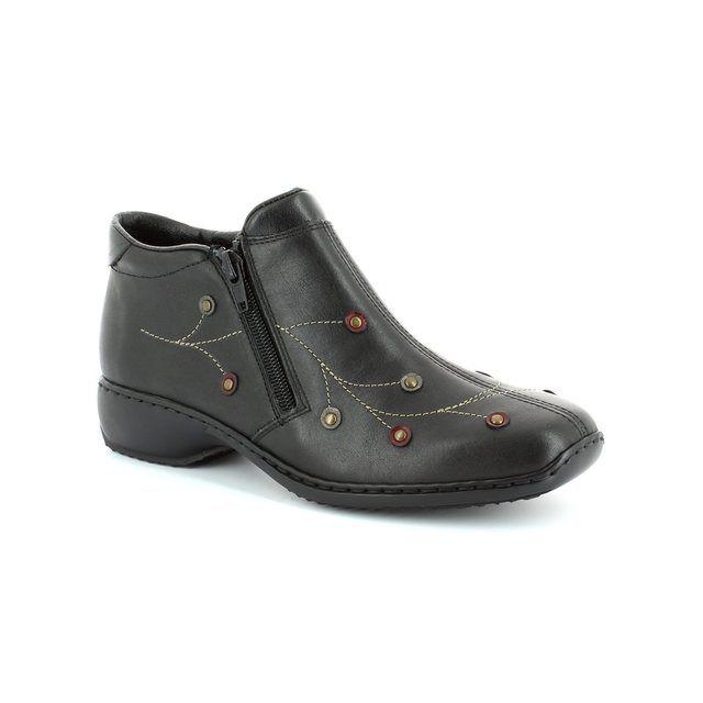 Rieker L3889-00 Black multi ankle boots