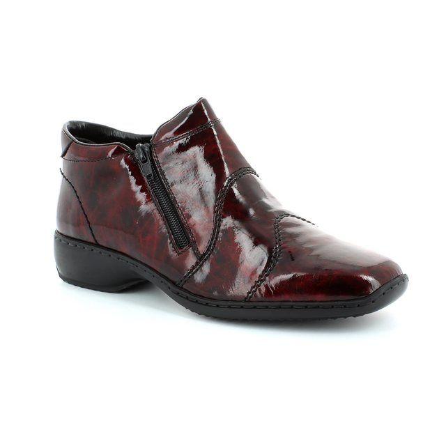 Rieker Ankle Boots - Wine patent - L3892-37 DORBOTRA