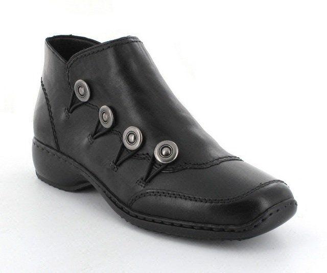 Rieker L3893-00 Black ankle boots