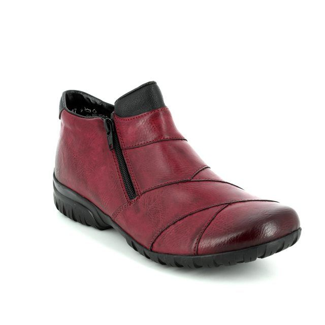 Rieker Ankle Boots - Wine - L4673-35 BIRBOPATCH
