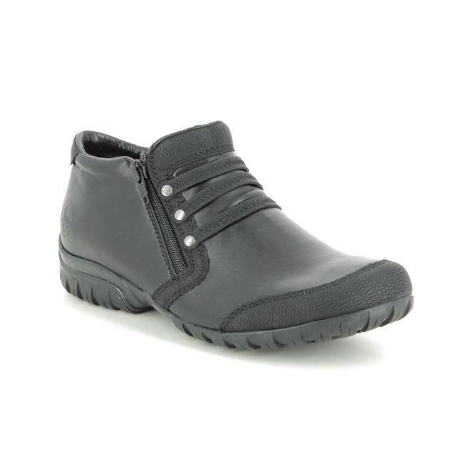 Rieker Comfort Slip On Shoes - Black - L4678-00 BIRBOZO
