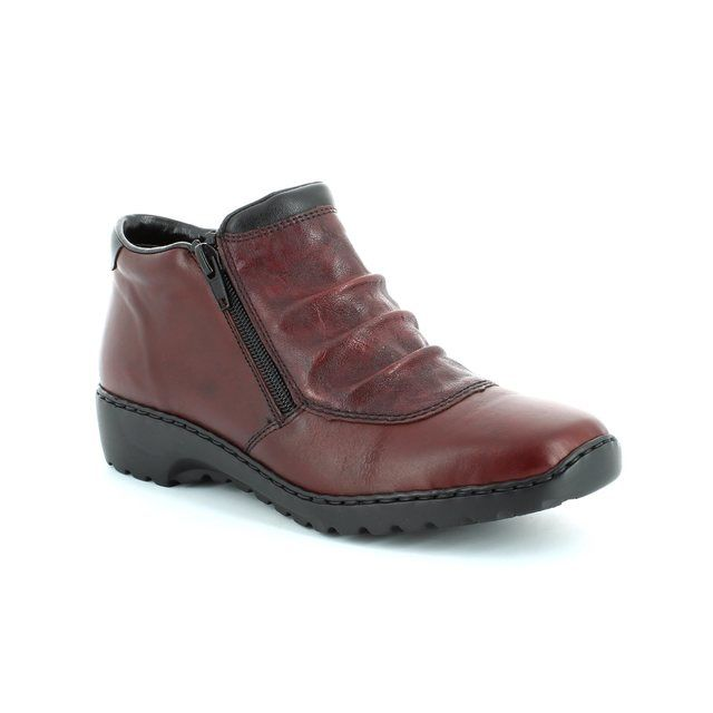 Rieker L6052-35 Wine ankle boots