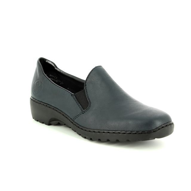 4f51d8f57f45 Rieker 583A0-00 Black croc comfort shoes