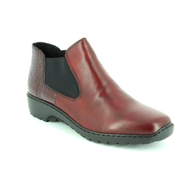 Rieker Ankle Boots - Wine - L6090-35 BORBOCHEL