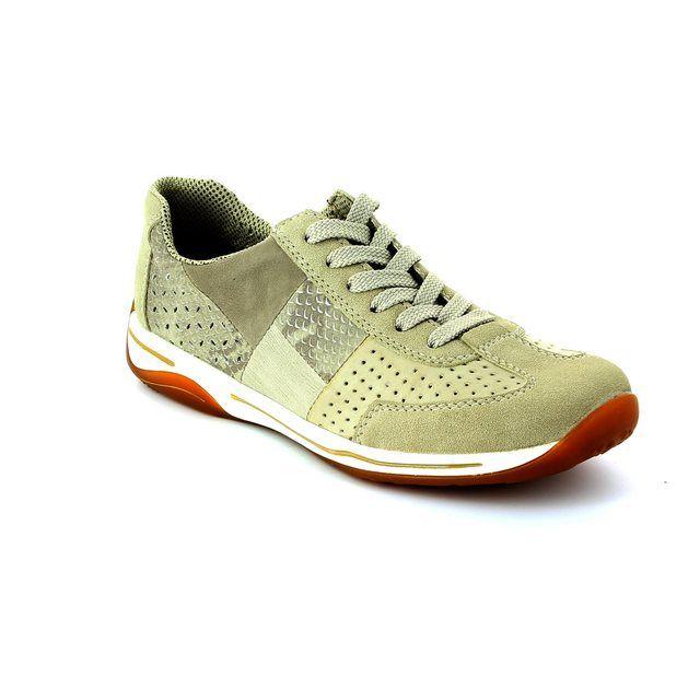 Rieker L6236-62 Beige multi lacing shoes