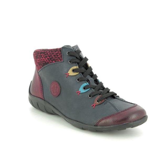 Rieker Lacing Shoes - Navy Wine - L6513-37 LIVCLOWN