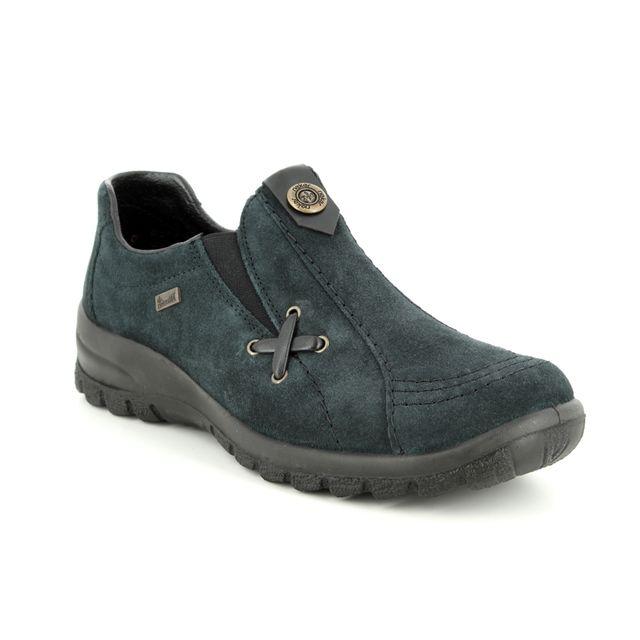 Rieker Comfort Shoes - Navy suede - L7171-14 EIKESU