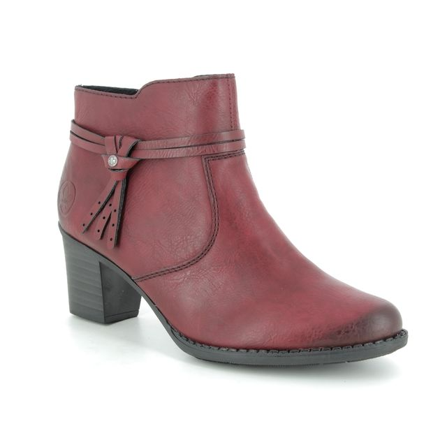 Rieker Ankle Boots - Dark Red - L7664-35 SALLOR