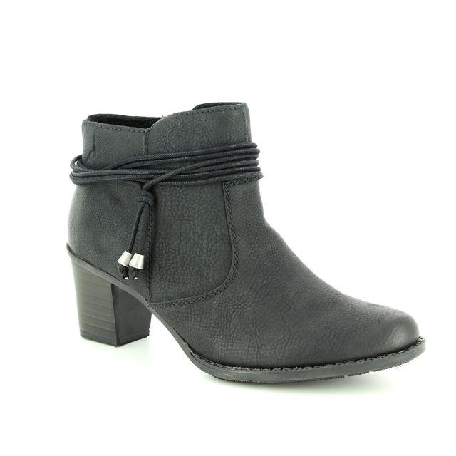 Rieker Fashion Ankle Boots - Black - L7669-00 SALLOP