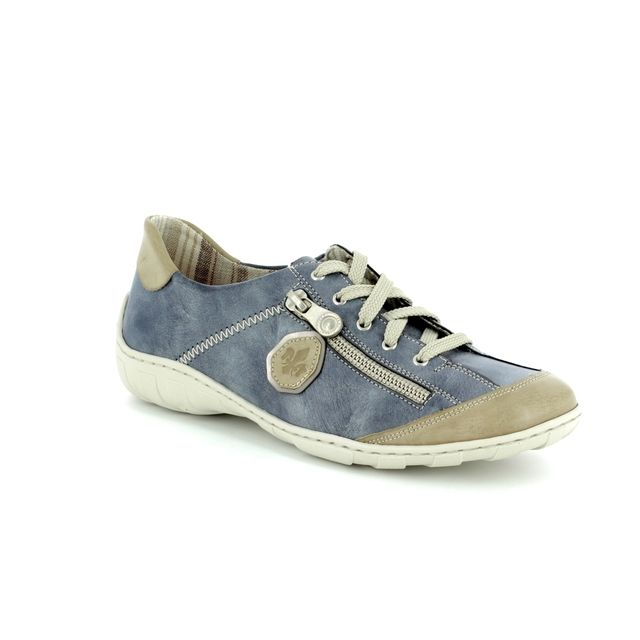 Rieker Lacing Shoes - Denim blue - M3724-60 LIVERDEE