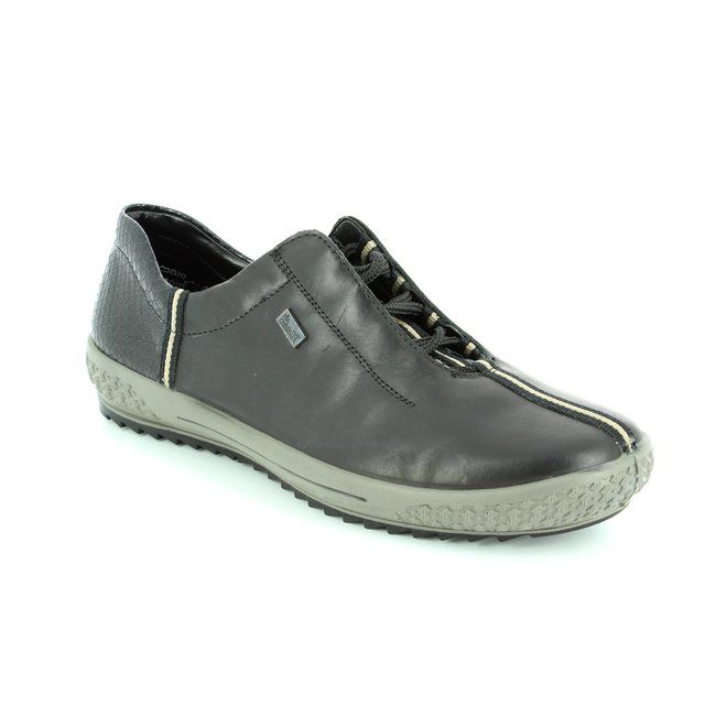 Rieker M6110-00 Black lacing shoes