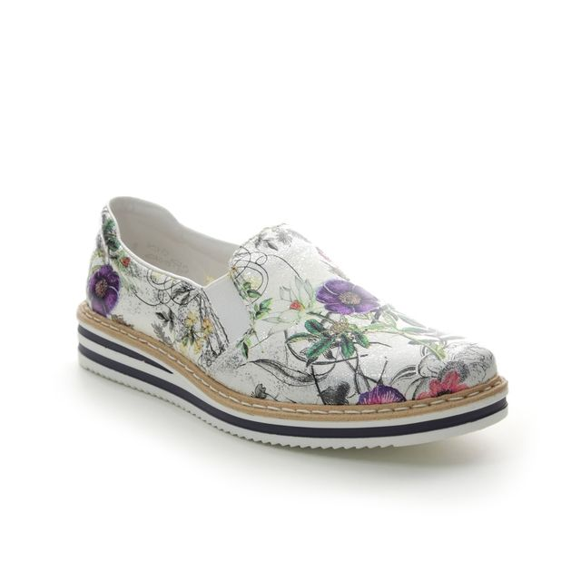 Rieker Loafers - Floral print - N0260-91 KELFLOR