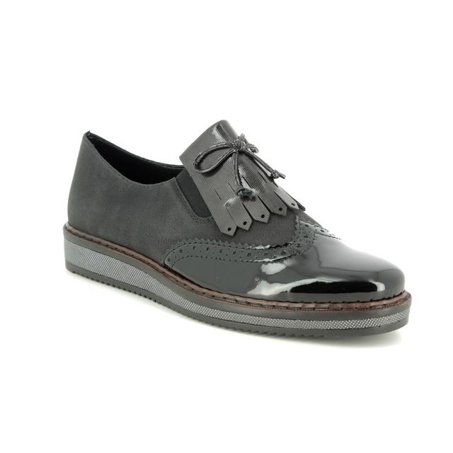 Rieker Brogues - Black - N0372-00 BROW