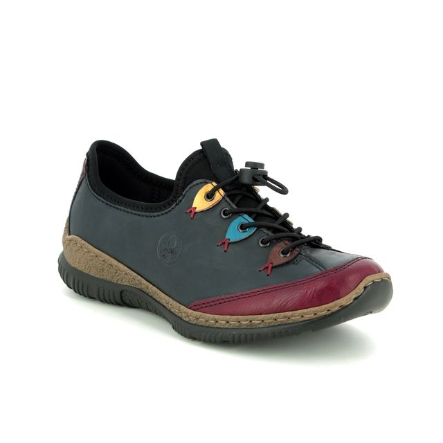 Rieker Lacing Shoes - Navy Wine - N3271-35 MEMCLOWN