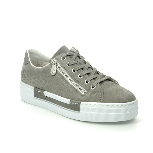 Rieker Trainers - Olive suede - N4921-42 LIMAGE