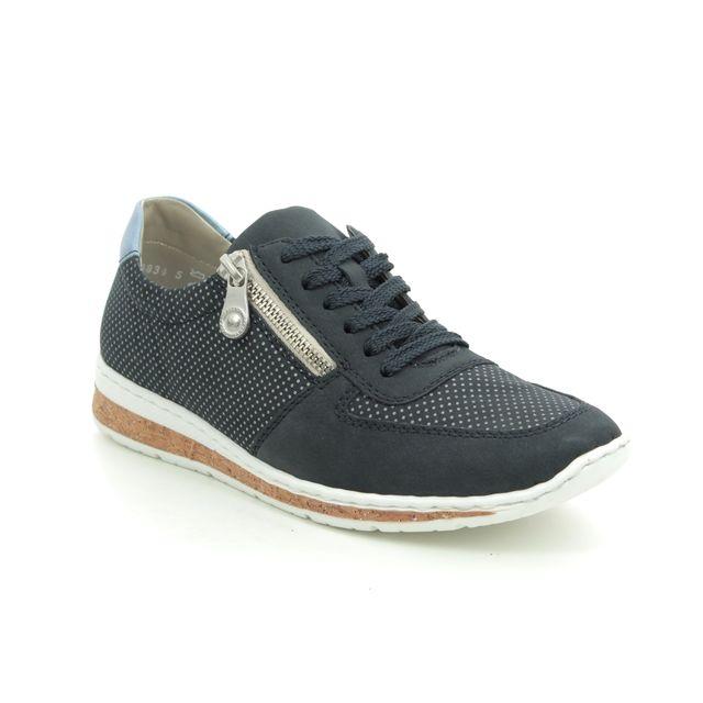Rieker Lacing Shoes - Navy - N5121-14 BRUNEL