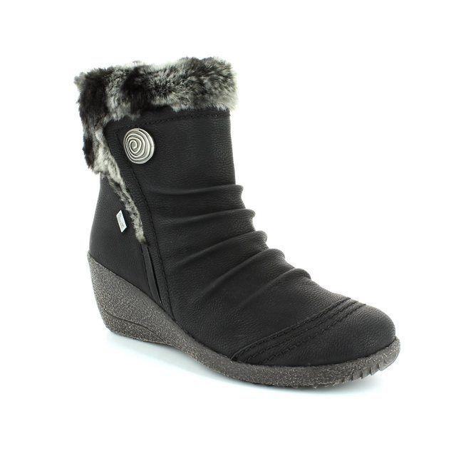 Rieker Y0363-01 Black ankle boots