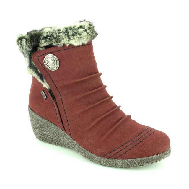 Rieker Y0363-35 Wine Wedge boots