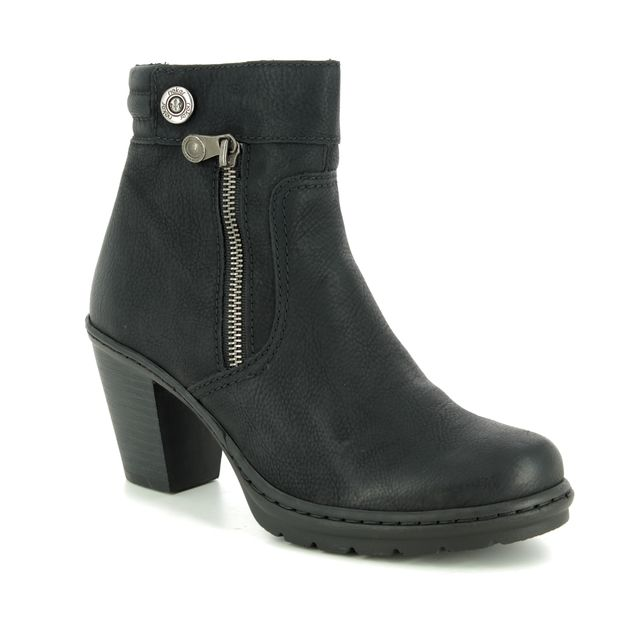 Rieker Ankle Boots - Black - Y1553-01 SALAPPIN