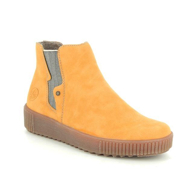 Rieker Chelsea Boots - Yellow - Y6461-68 DURLOURDES
