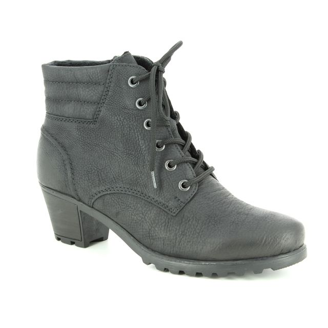 Rieker Fashion Ankle Boots - Black - Y8023-01 GREELACE