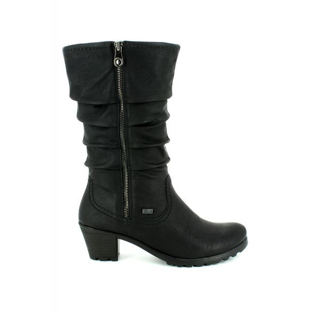 Rieker Knee-high Boots - Black - Y8039-00 GREECELO TEX