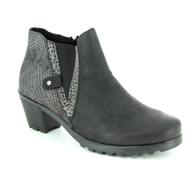 Rieker Y8071-01 Black multi ankle boots