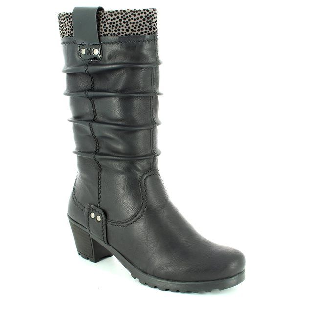 Rieker Y8080-01 Black knee-high boots