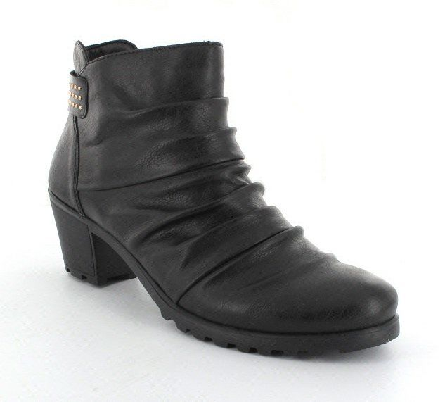 Rieker Y8093-00 Black ankle boots