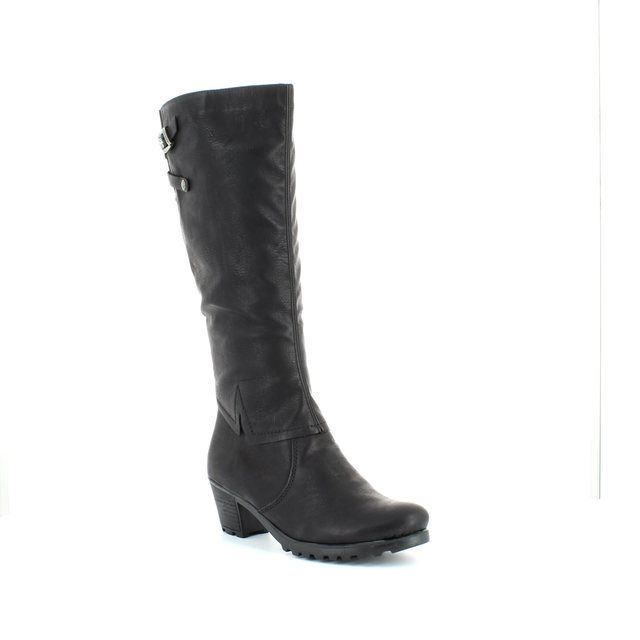 Rieker Y8097-00 Black long boots