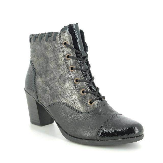 Rieker Lace Up Boots - Black - Y8938-00 TOOLCA