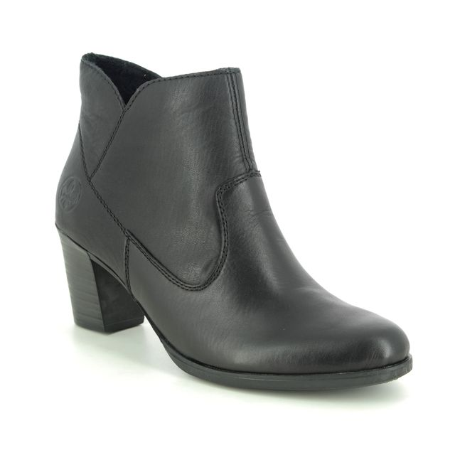 Rieker Fashion Ankle Boots - Black leather - Y8990-00 TOOLAN