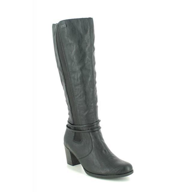 Rieker Knee-high Boots - Black - Y8993-00 TOOLON TEX