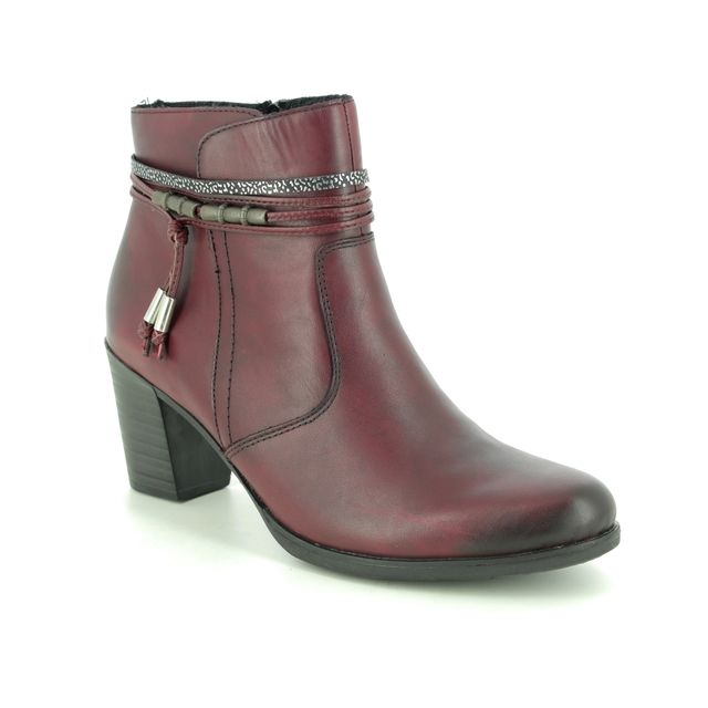 Rieker Ankle Boots - Wine leather - Y8999-35 TOOLBRAID
