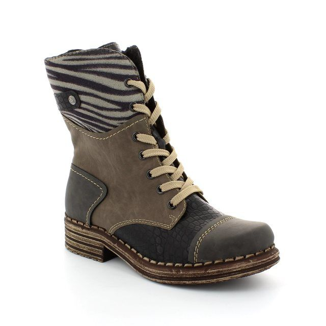 Rieker Y9624-46 Grey muti ankle boots