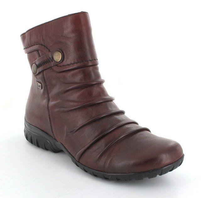 Rieker Z4652-35 Wine ankle boots