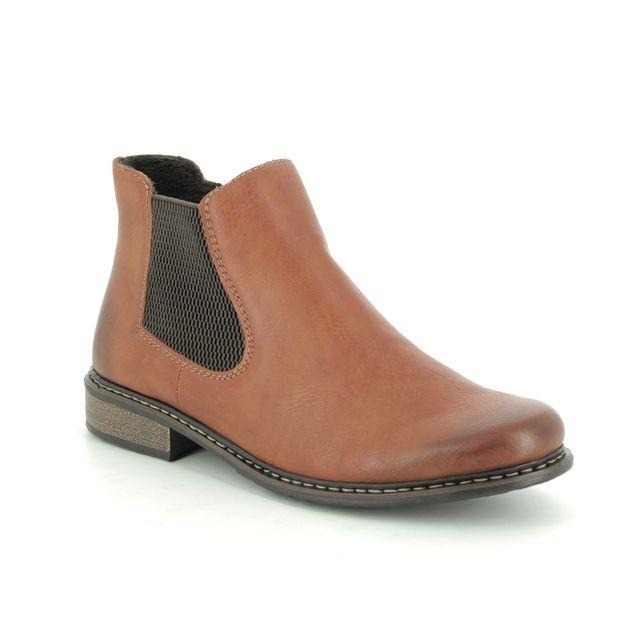Rieker Chelsea Boots - Tan - Z4994-24 PEECH