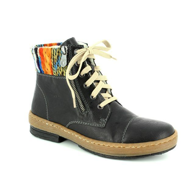 Rieker Ankle Boots - Black - Z6721-00 POLARLACE