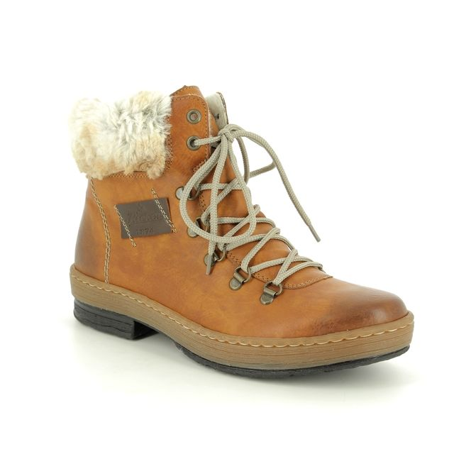 Rieker Fashion Ankle Boots - Tan - Z6743-24 POLARPEEPS