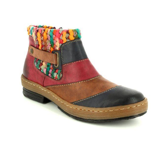 Rieker Ankle Boots - Various - Z6782-14 POLARMIX